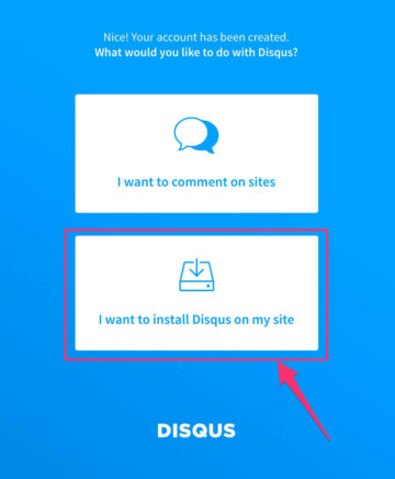 I want to install Disqus on my site