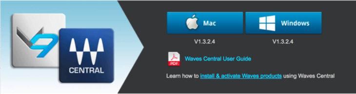 Waves Centralをダウンロード